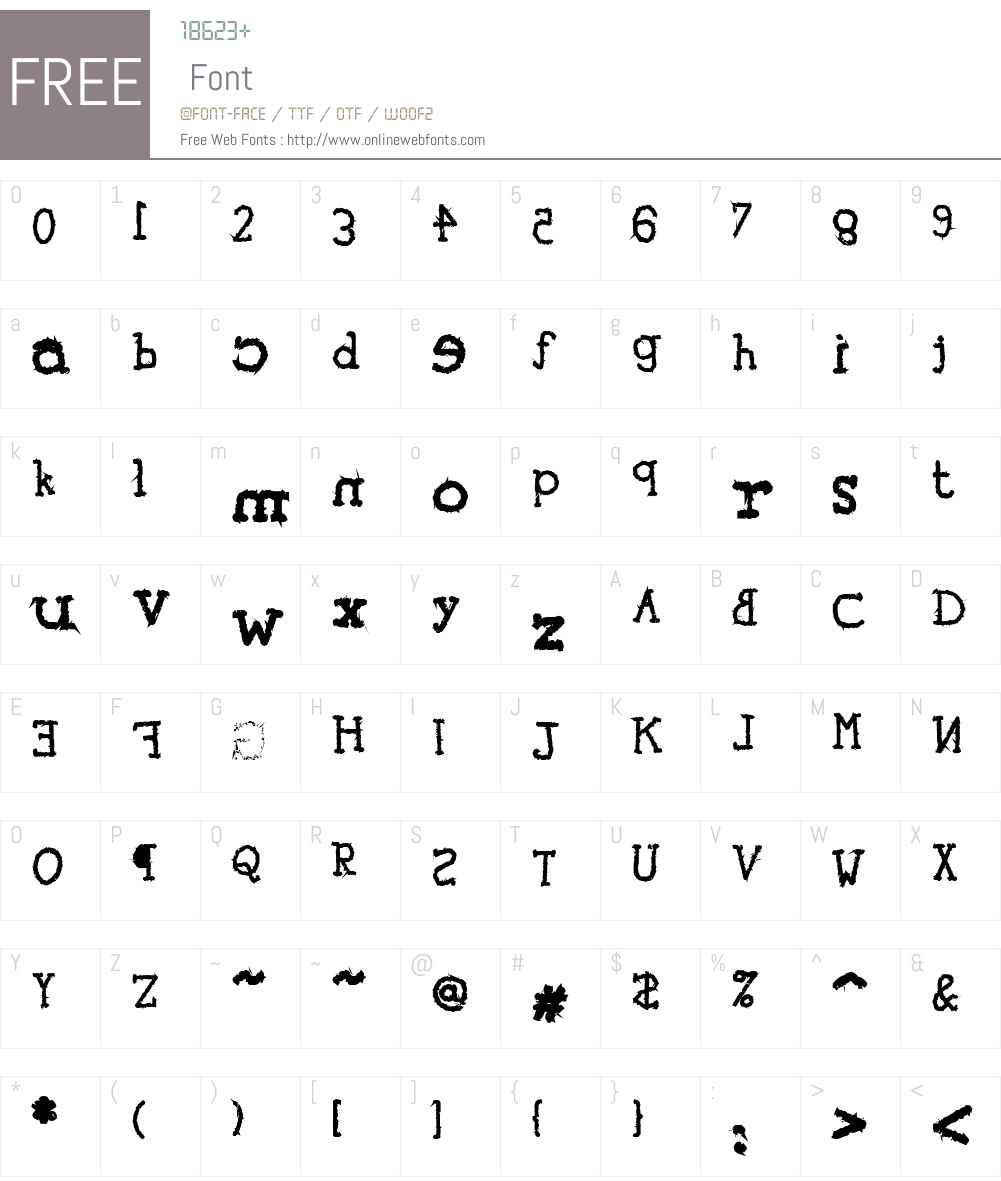 tYpEwRiTeR's ReVeNgE! Font Screenshots
