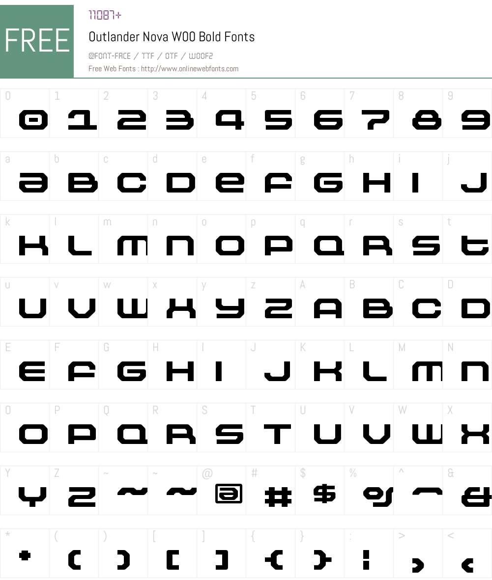 OutlanderNovaW00-Bold Font Screenshots