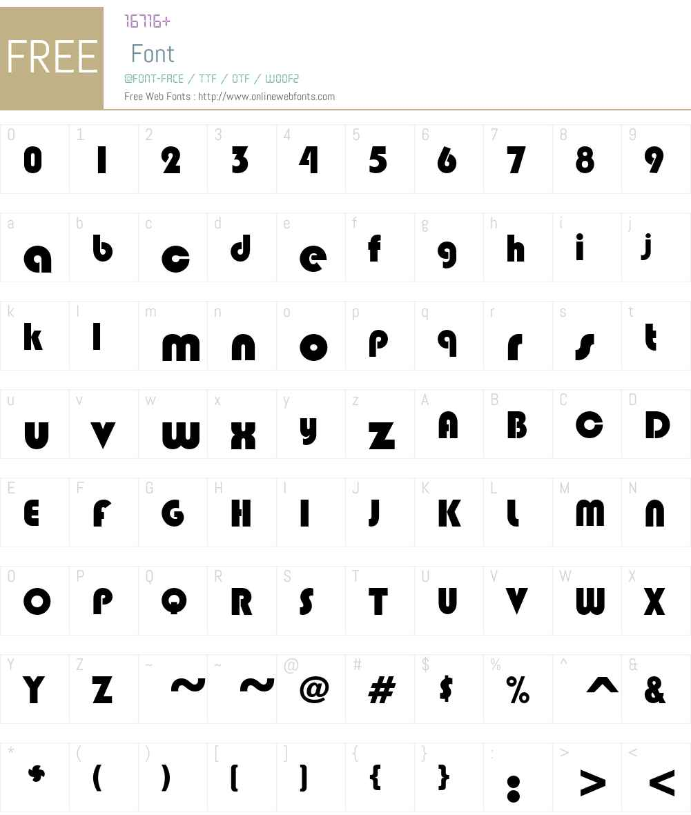 Hippo Font Screenshots