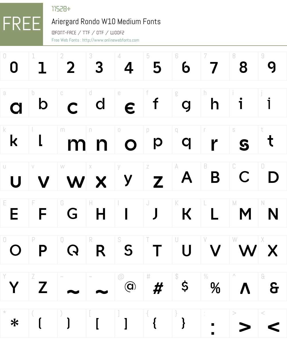 AriergardRondoW10-Medium Font Screenshots