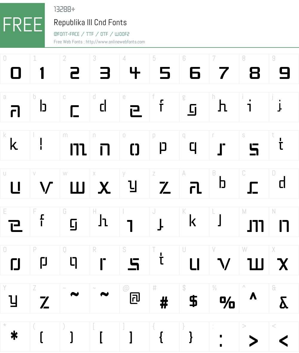 Republika III Cnd Font Screenshots
