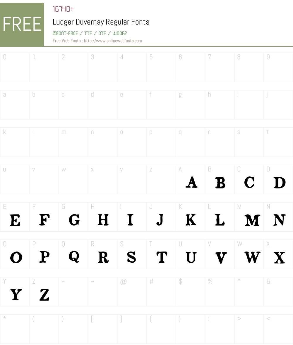 Ludger Duvernay Font Screenshots