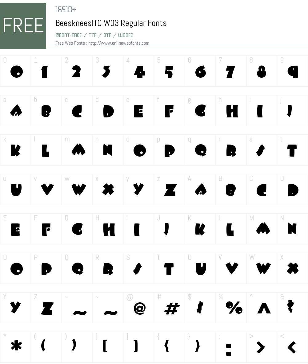 BeeskneesITCW03-Regular Font Screenshots
