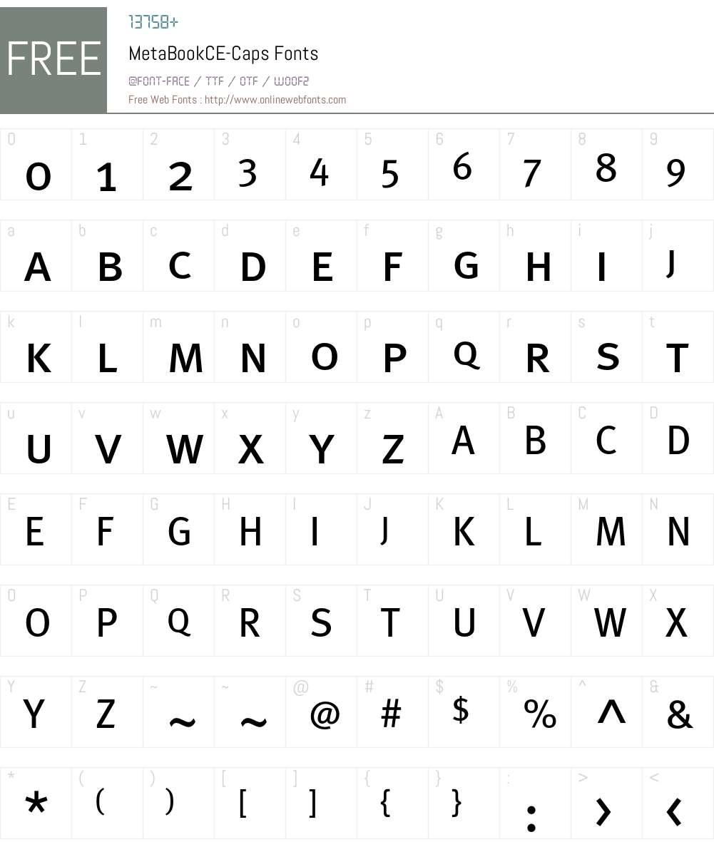 MetaBookCE Font Screenshots