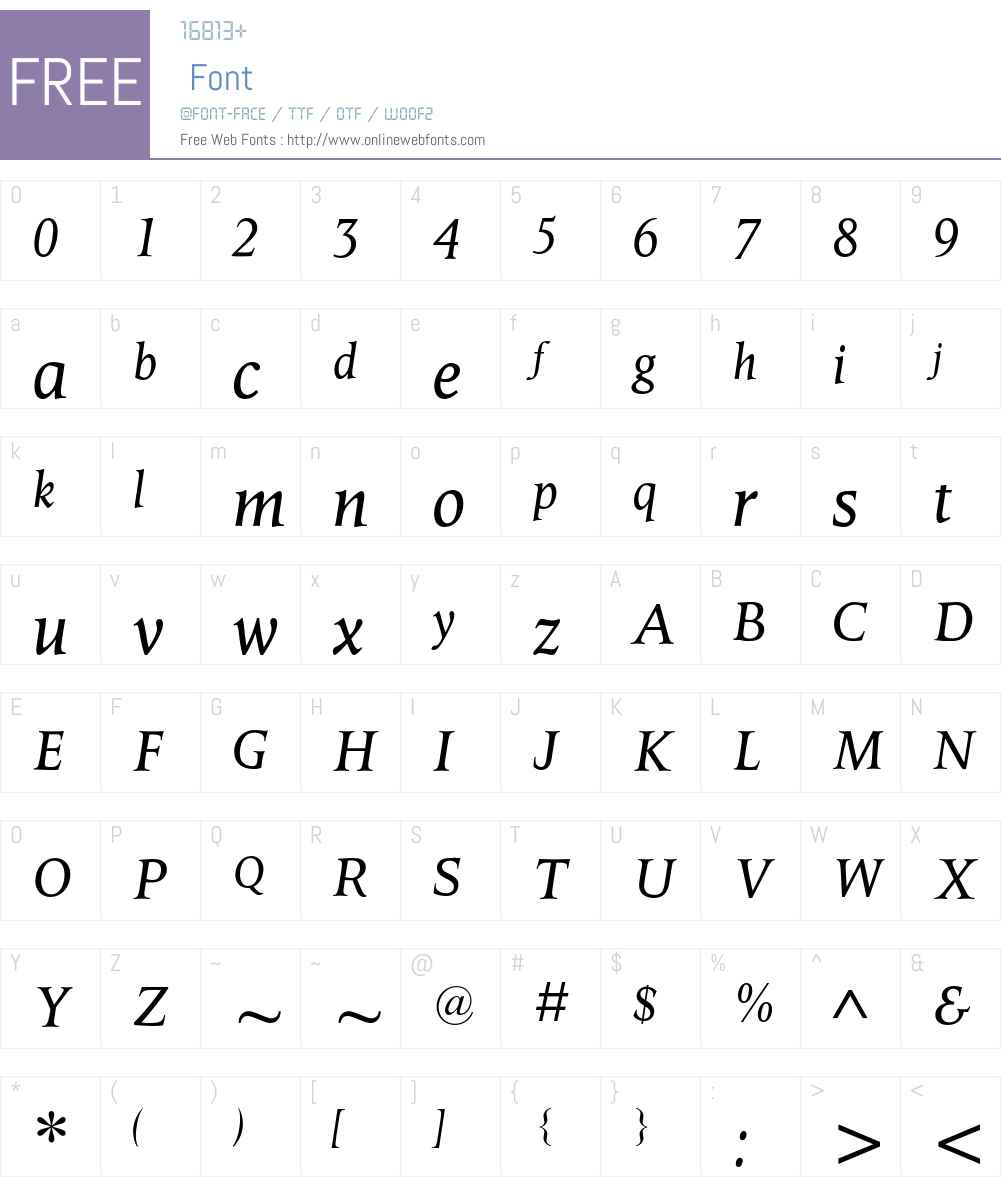 Octavian MT Font Screenshots