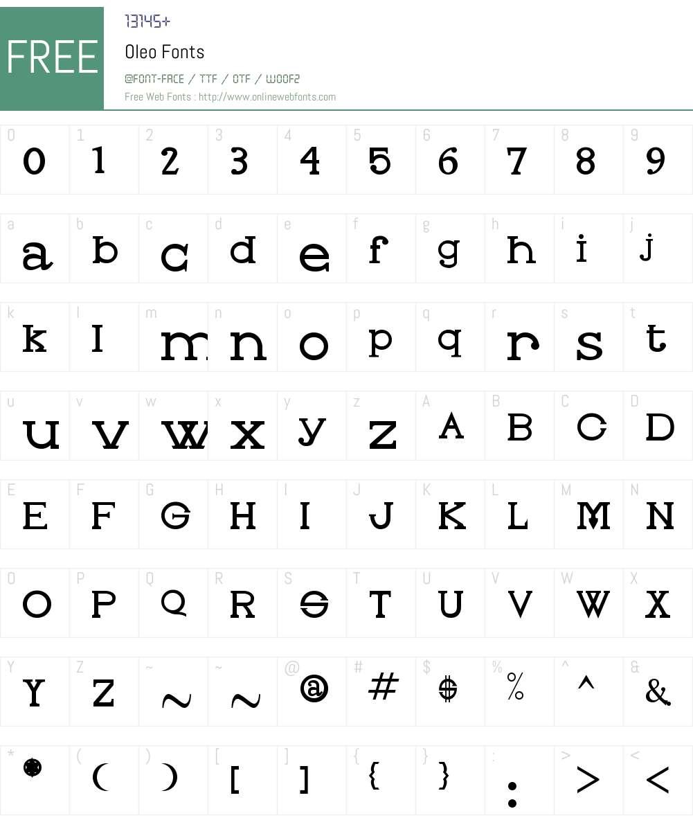 Oleo Font Screenshots