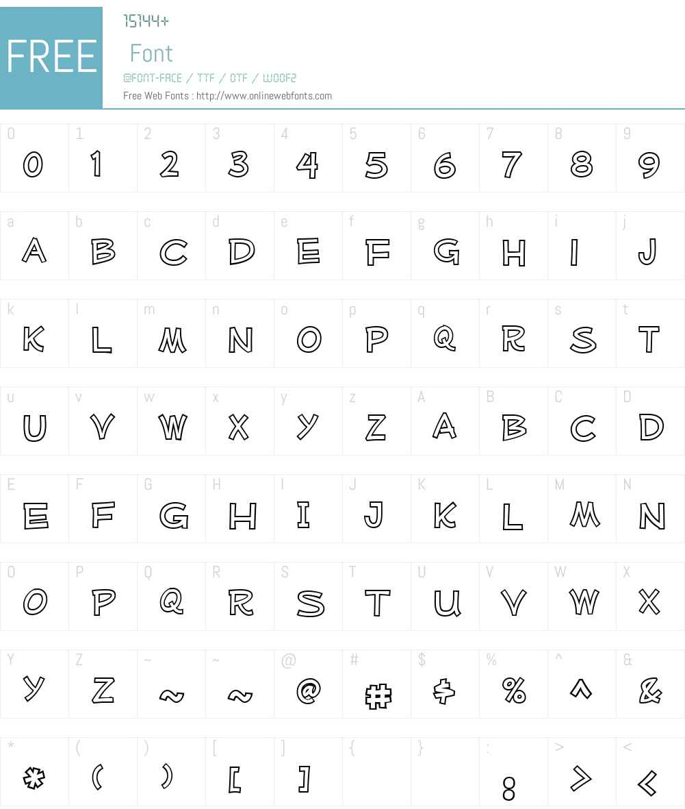 Mufferaw Outline Font Screenshots