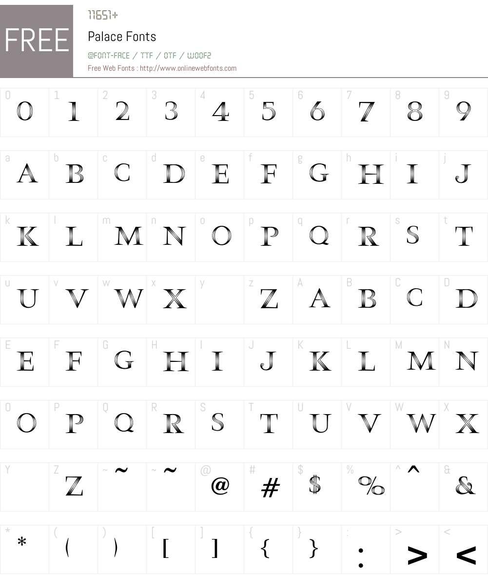 Palace Font Screenshots