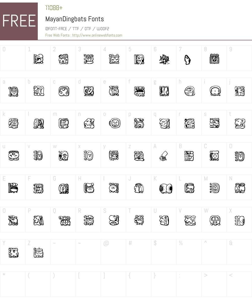MayanDingbats Font Screenshots