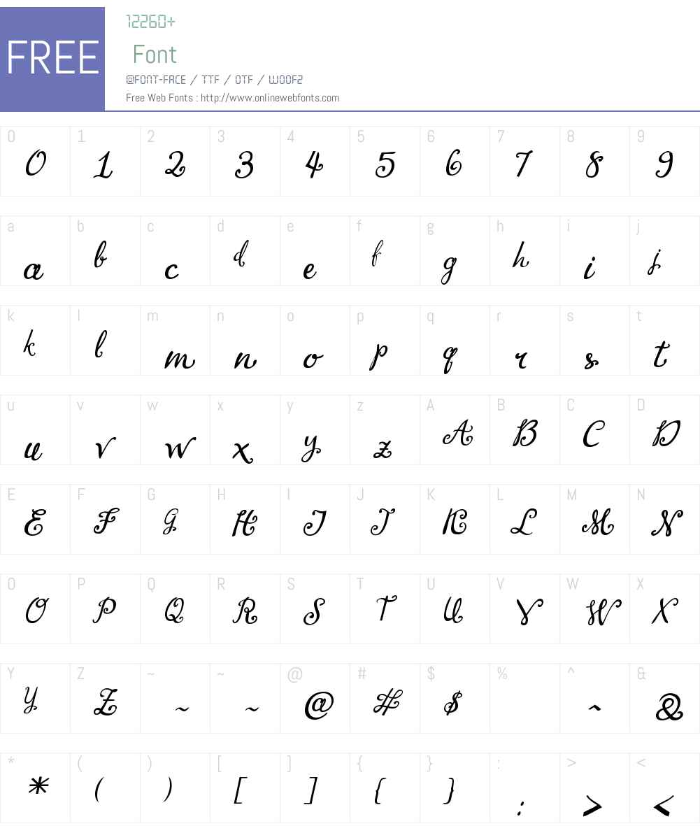 LirioSlantedW00-Regular Font Screenshots