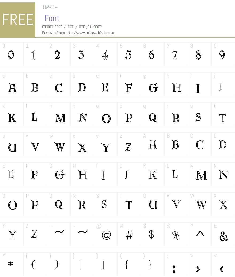 URWErbarW01-Normal Font Screenshots