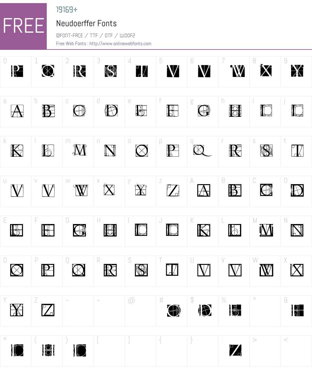 Neudoerffer Font Screenshots