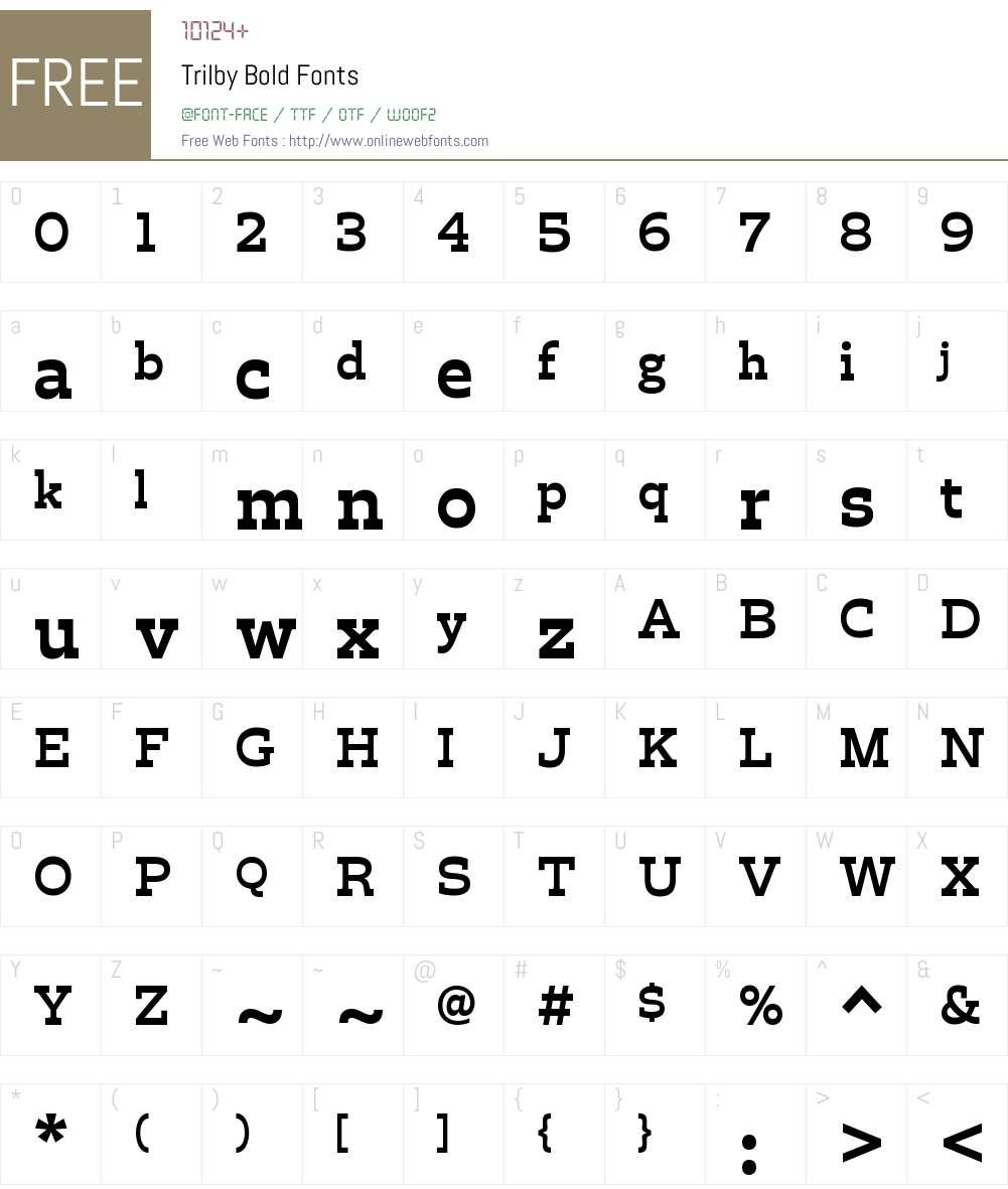 Trilby Regular Font Screenshots