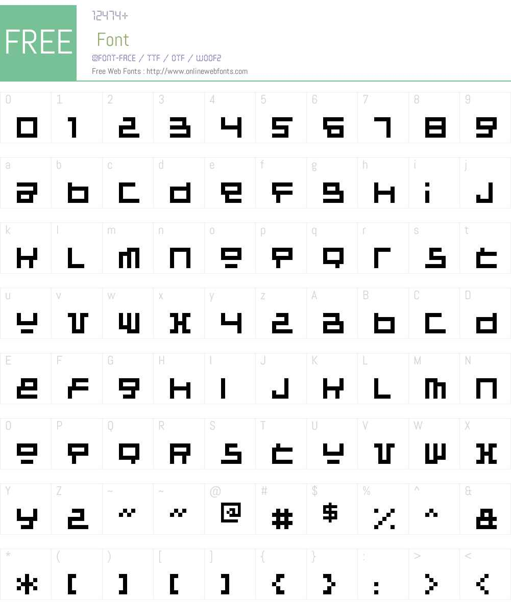 Raumsonde Font Screenshots