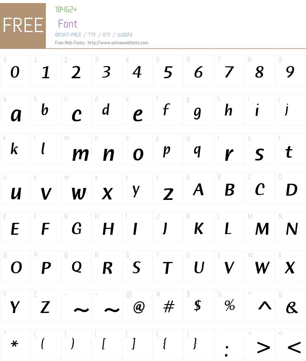 ITC Humana Sans Font Screenshots