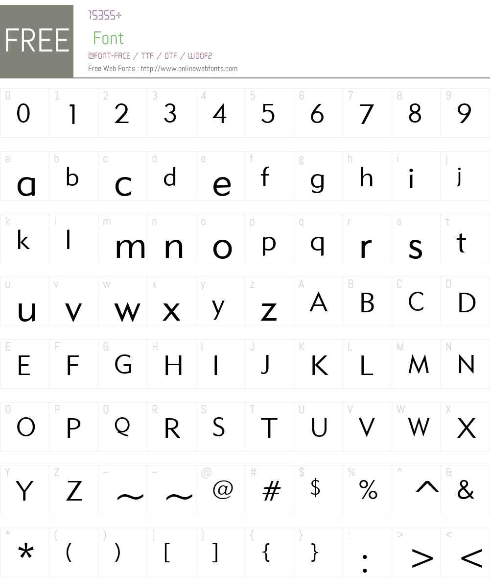 Geometric415W01-Lite Font Screenshots