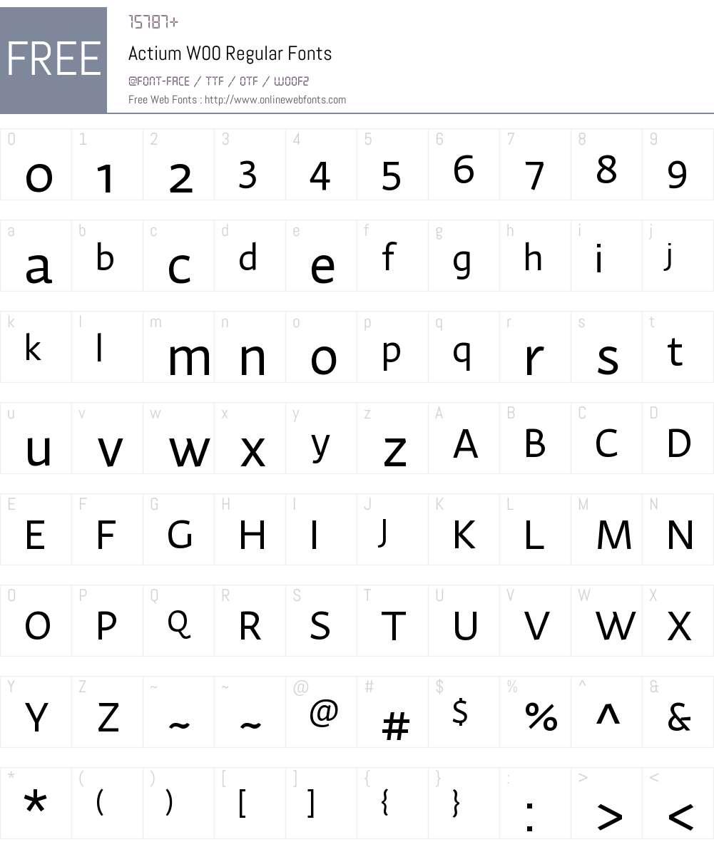 ActiumW00-Regular Font Screenshots