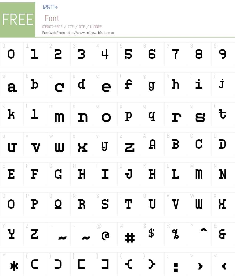 Monosphere Font Screenshots