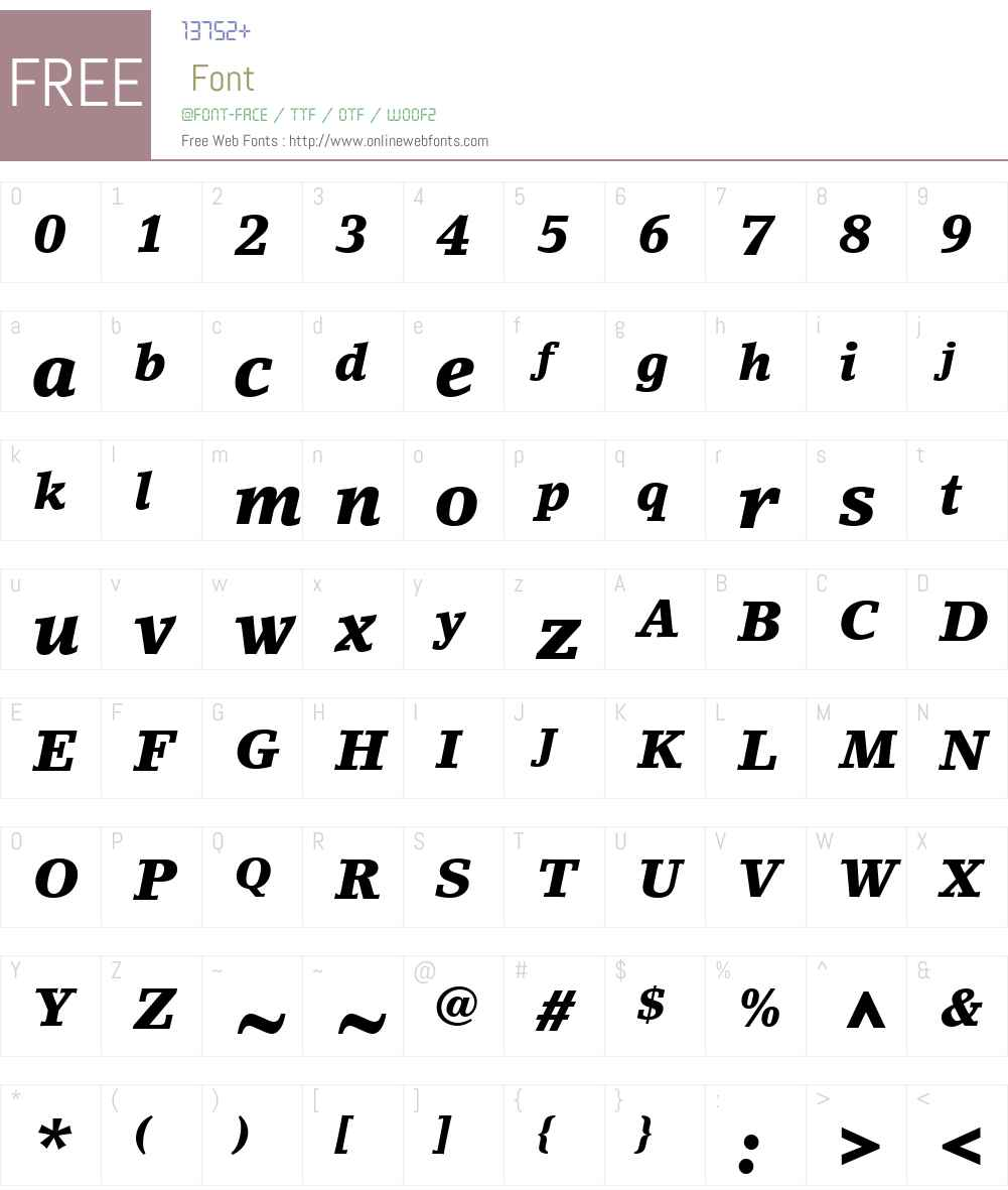 LinoLetterW01-BlackItalic Font Screenshots