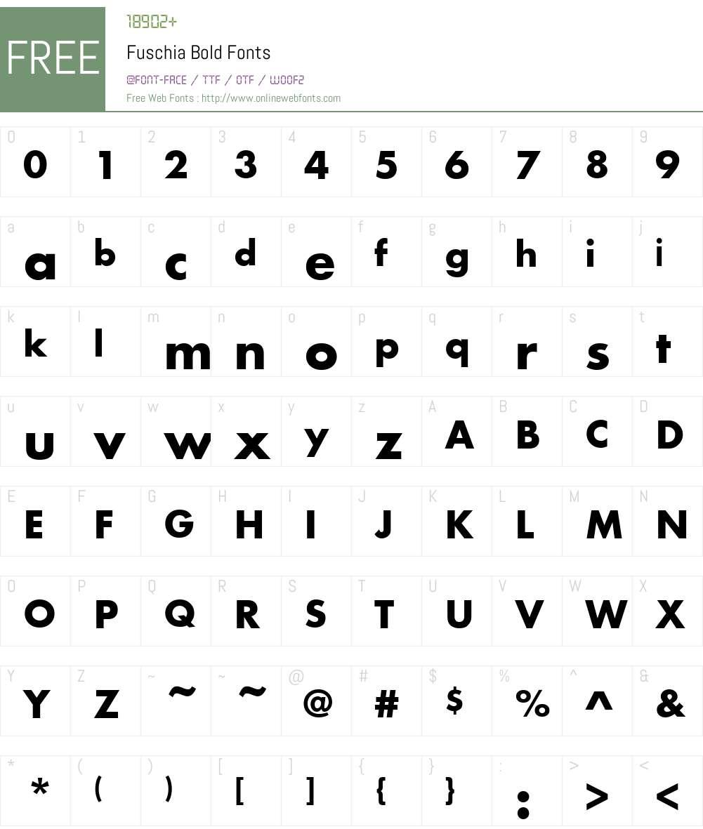 Fuschia Font Screenshots
