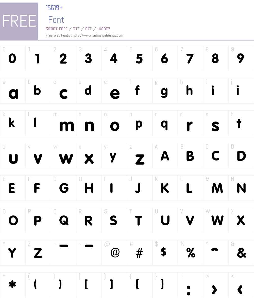 Volkswagen-Bold Font Screenshots