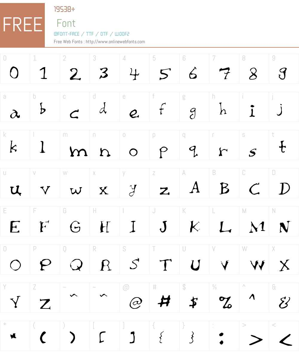Chaiee Font Screenshots