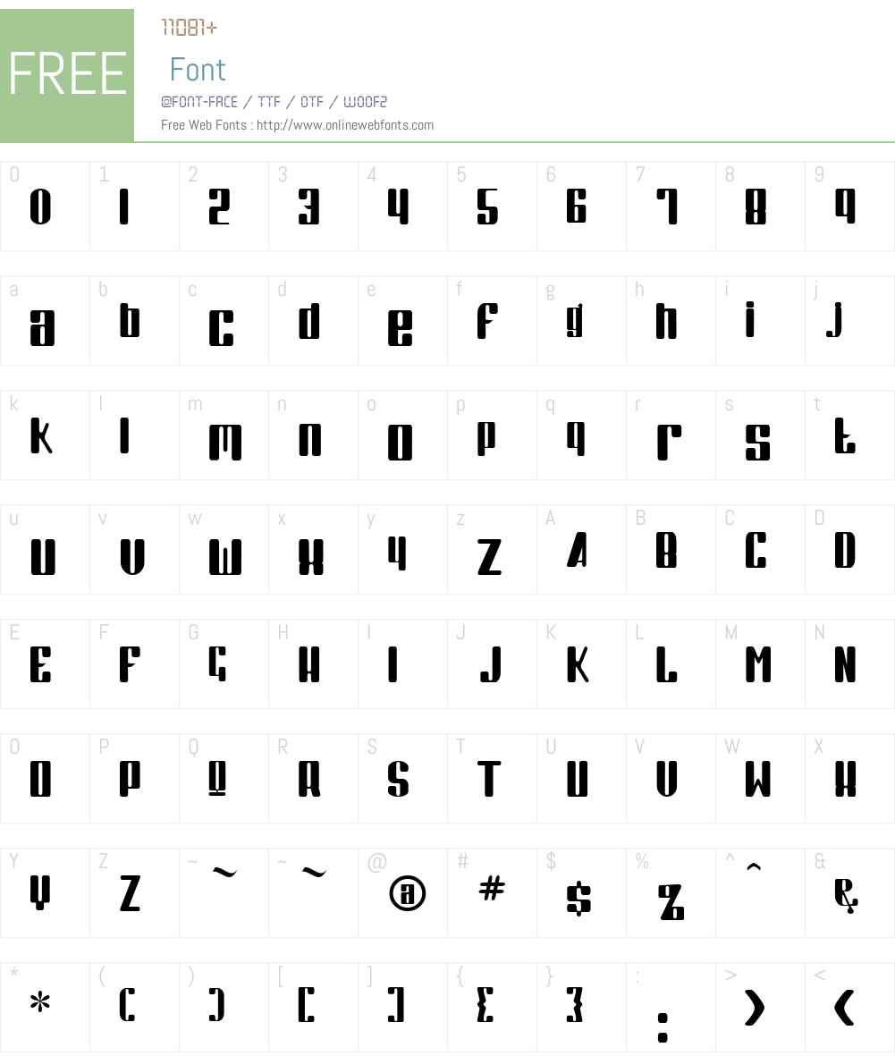 Kode Font Screenshots
