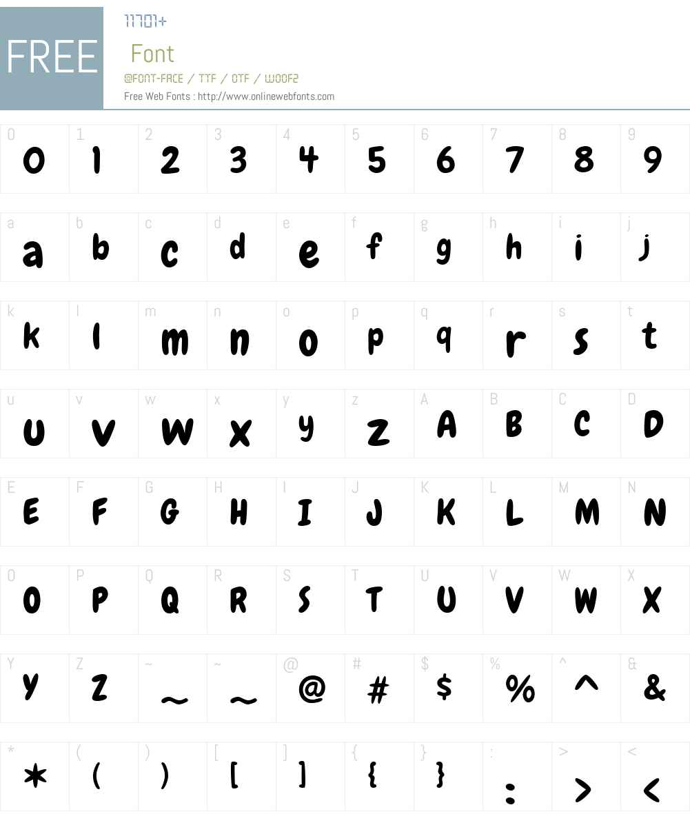 Chewy Font Screenshots