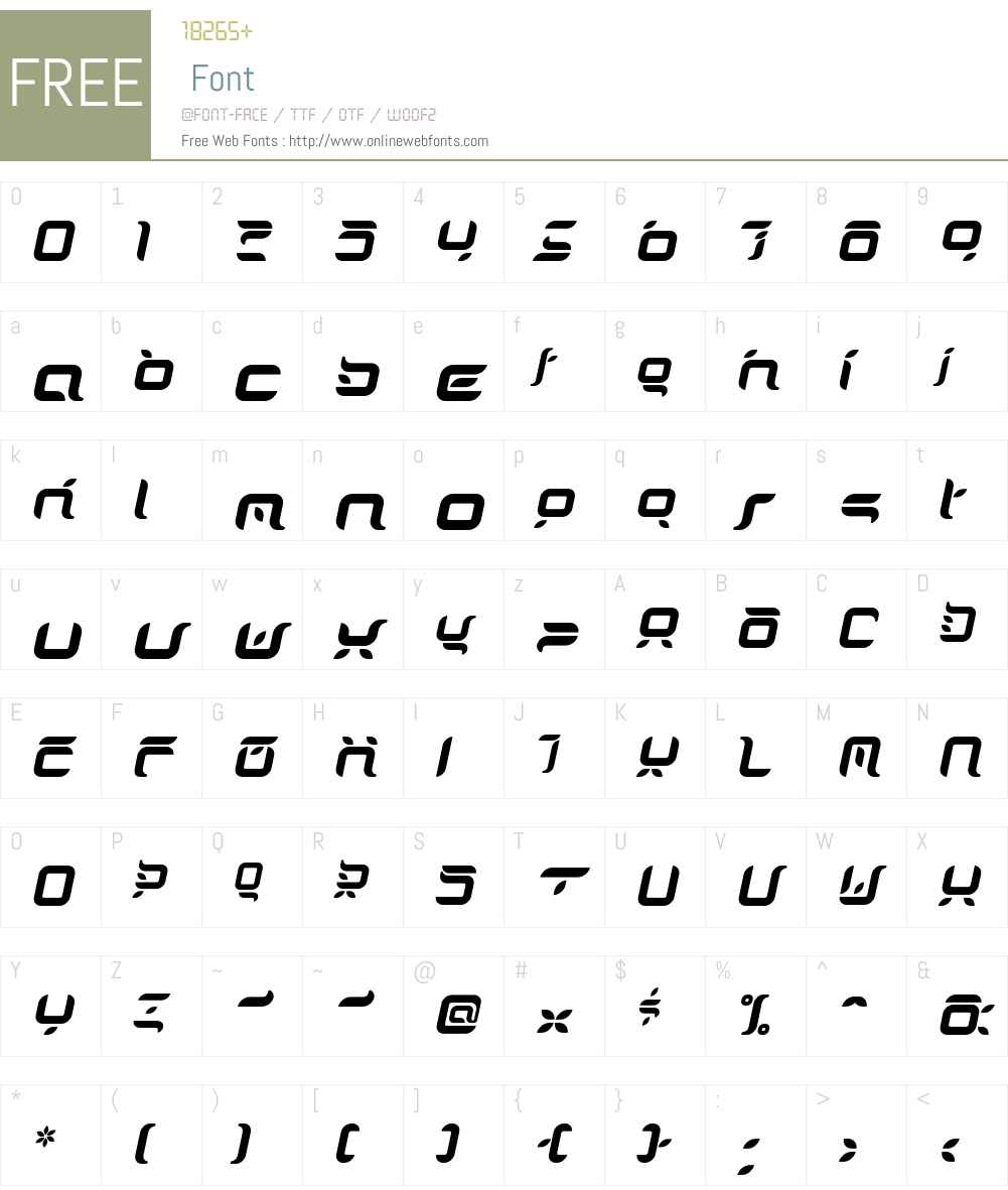 DorisOrange-Italic Font Screenshots