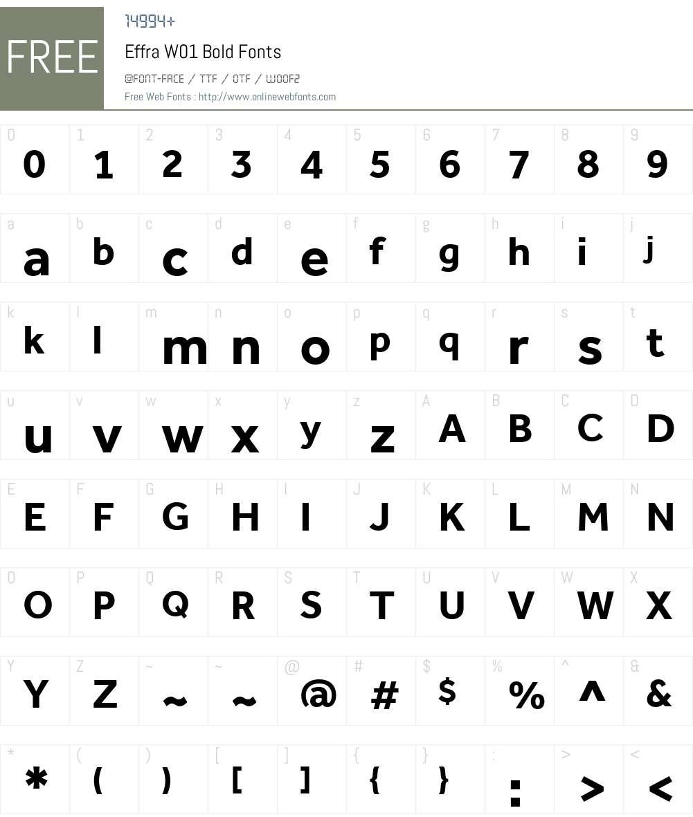 EffraW01-Bold Font Screenshots