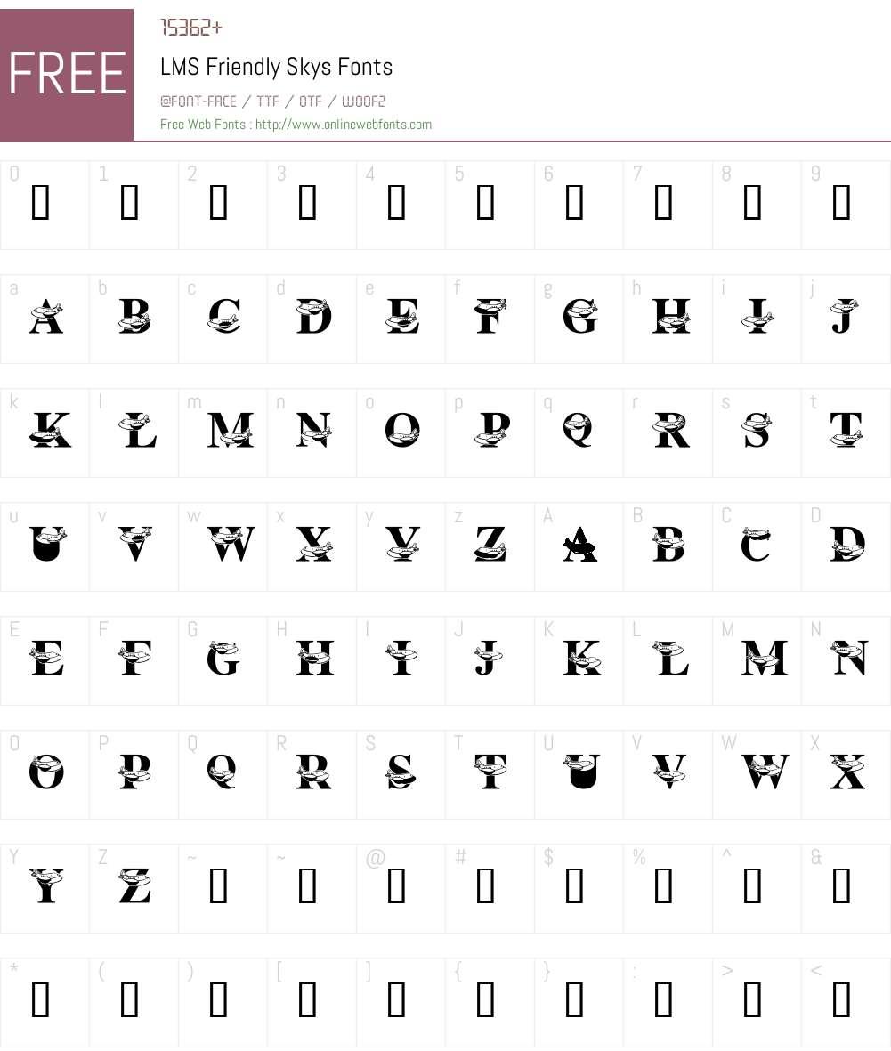 LMS Friendly Skys Font Screenshots