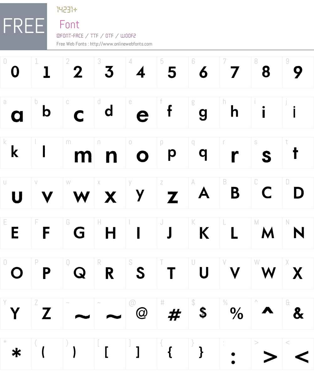 a_FuturaOrtoRg Font Screenshots