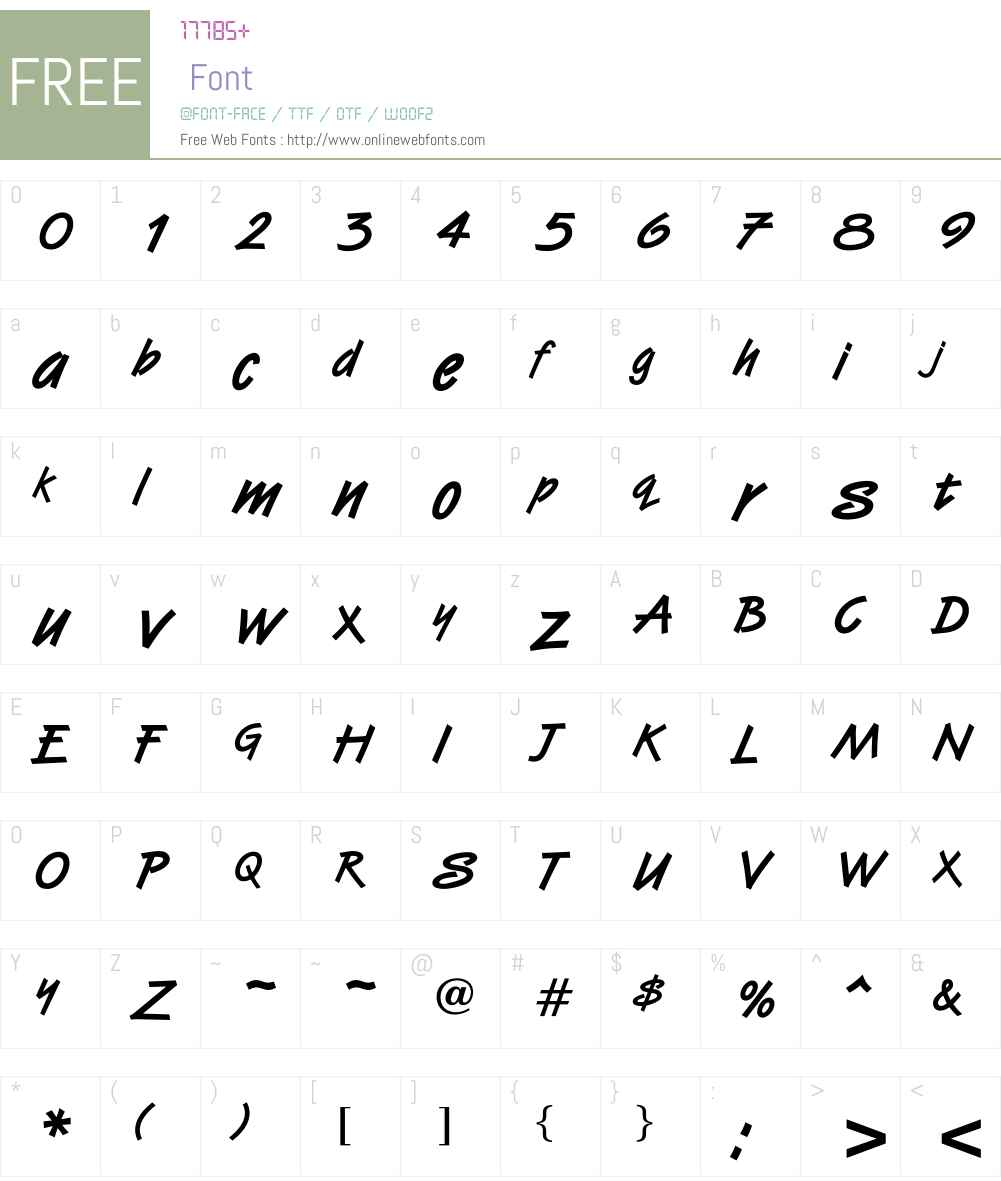 OPTIVanilla-Bold Font Screenshots