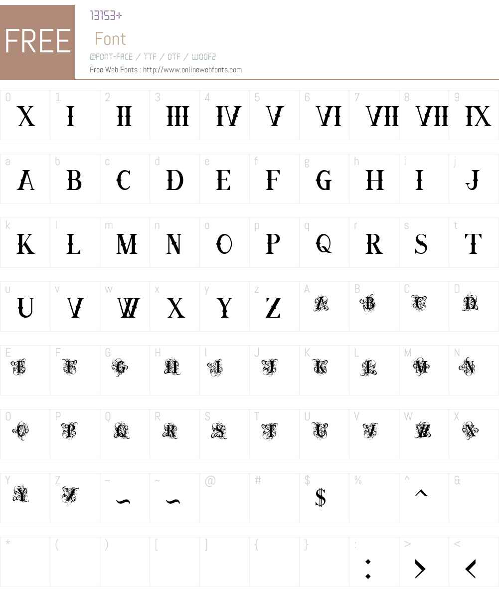 Ornamental Versals Black Font Screenshots
