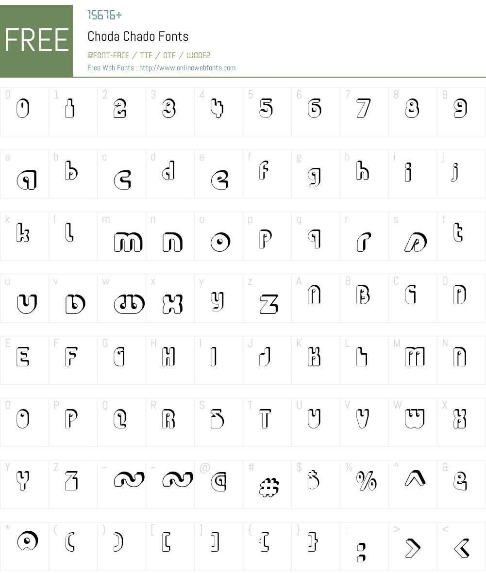 Choda Chado Font Screenshots