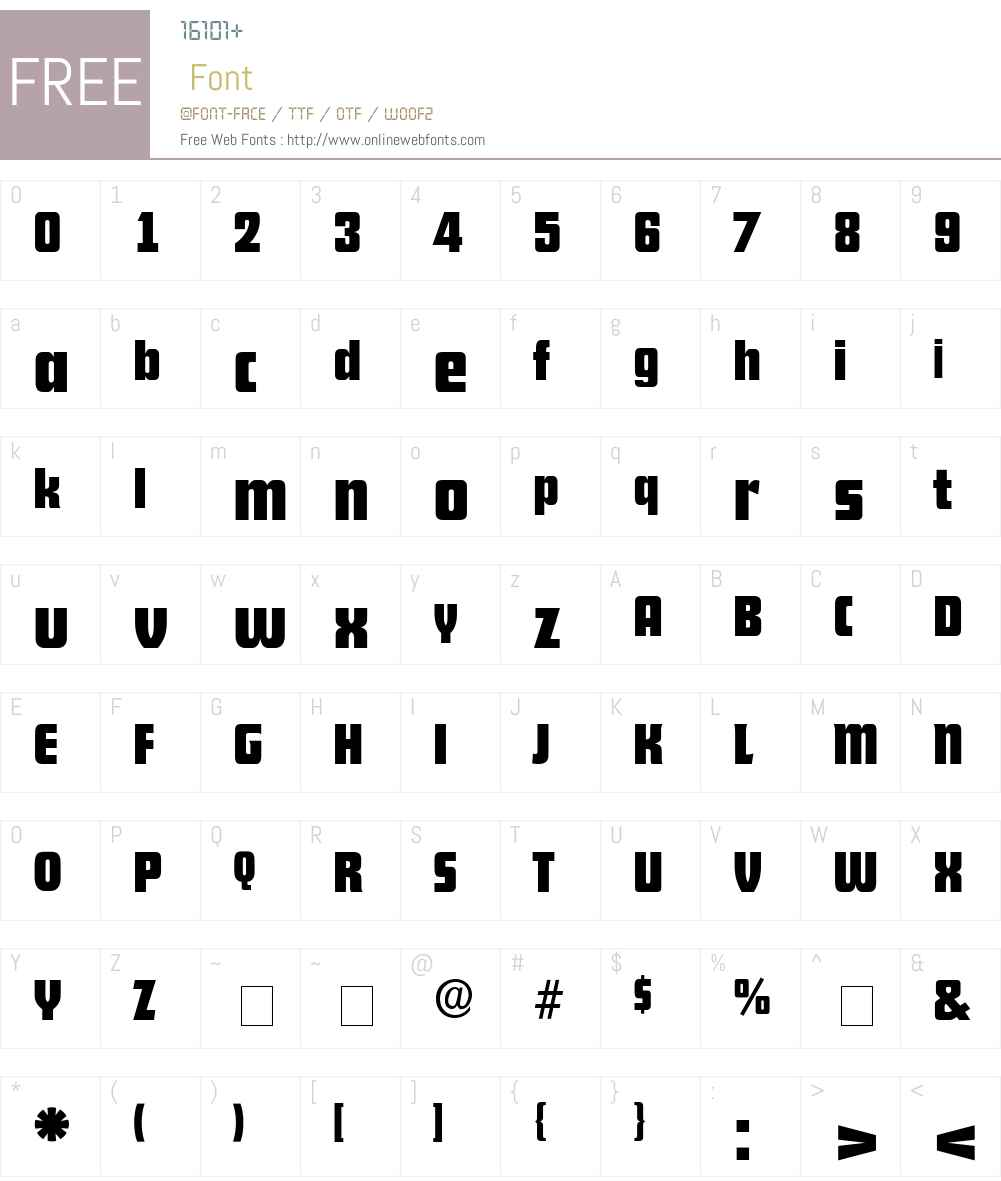 Rhyton Font Screenshots