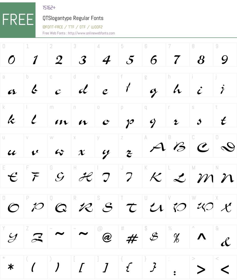 QTSlogantype Font Screenshots