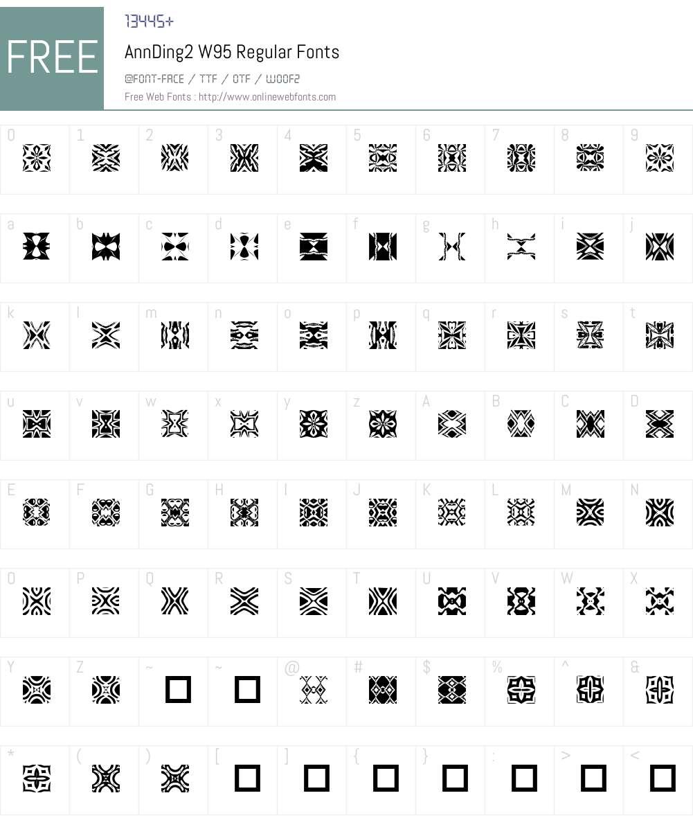 AnnDing2 Font Screenshots