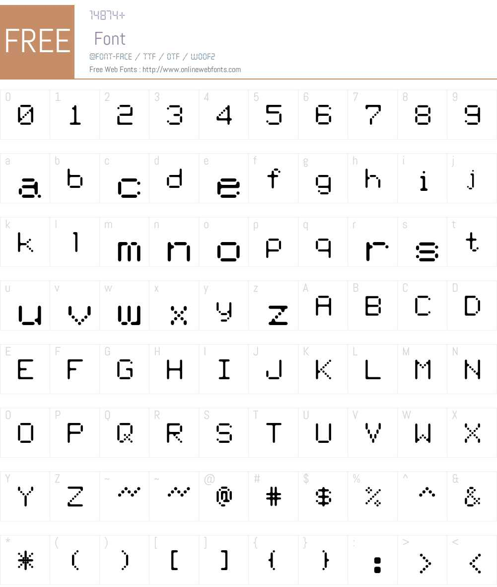 Therm Font Screenshots