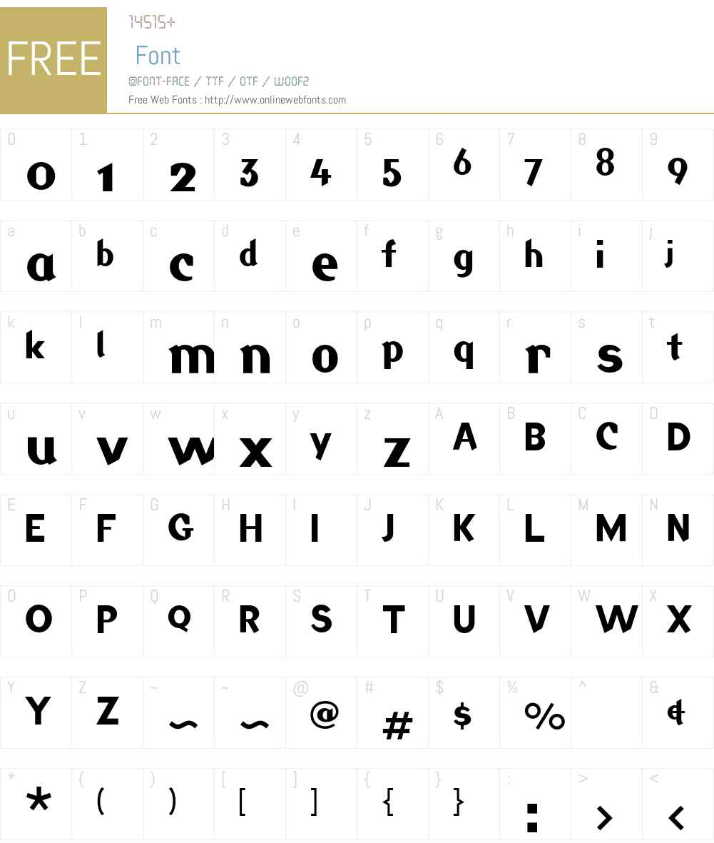 Jackdaw Font Screenshots