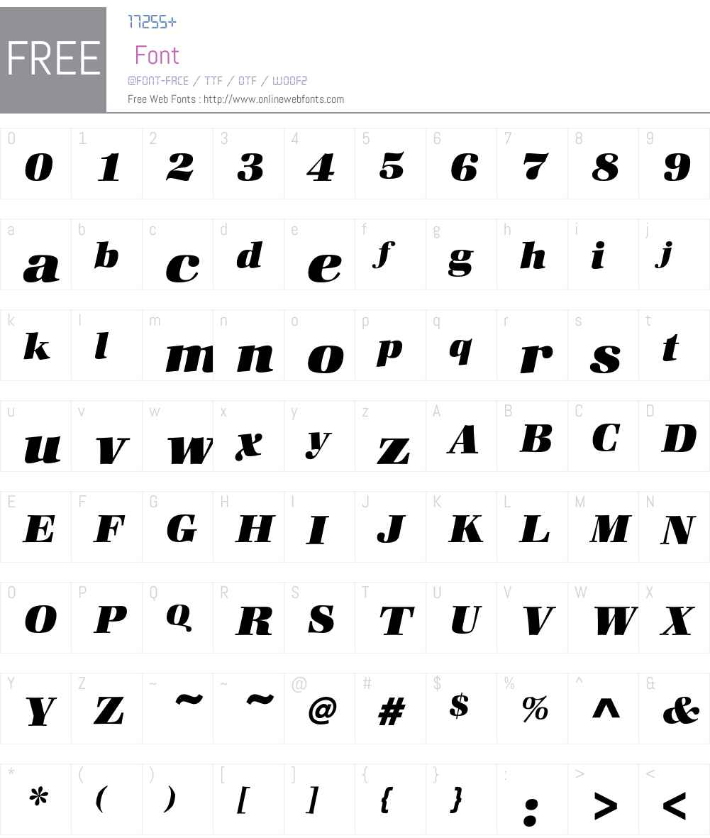 ZapfBookEF-HeavyItalic Font Screenshots