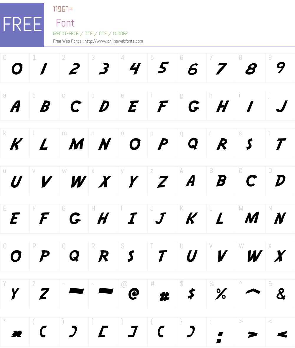 Adventure Font Screenshots