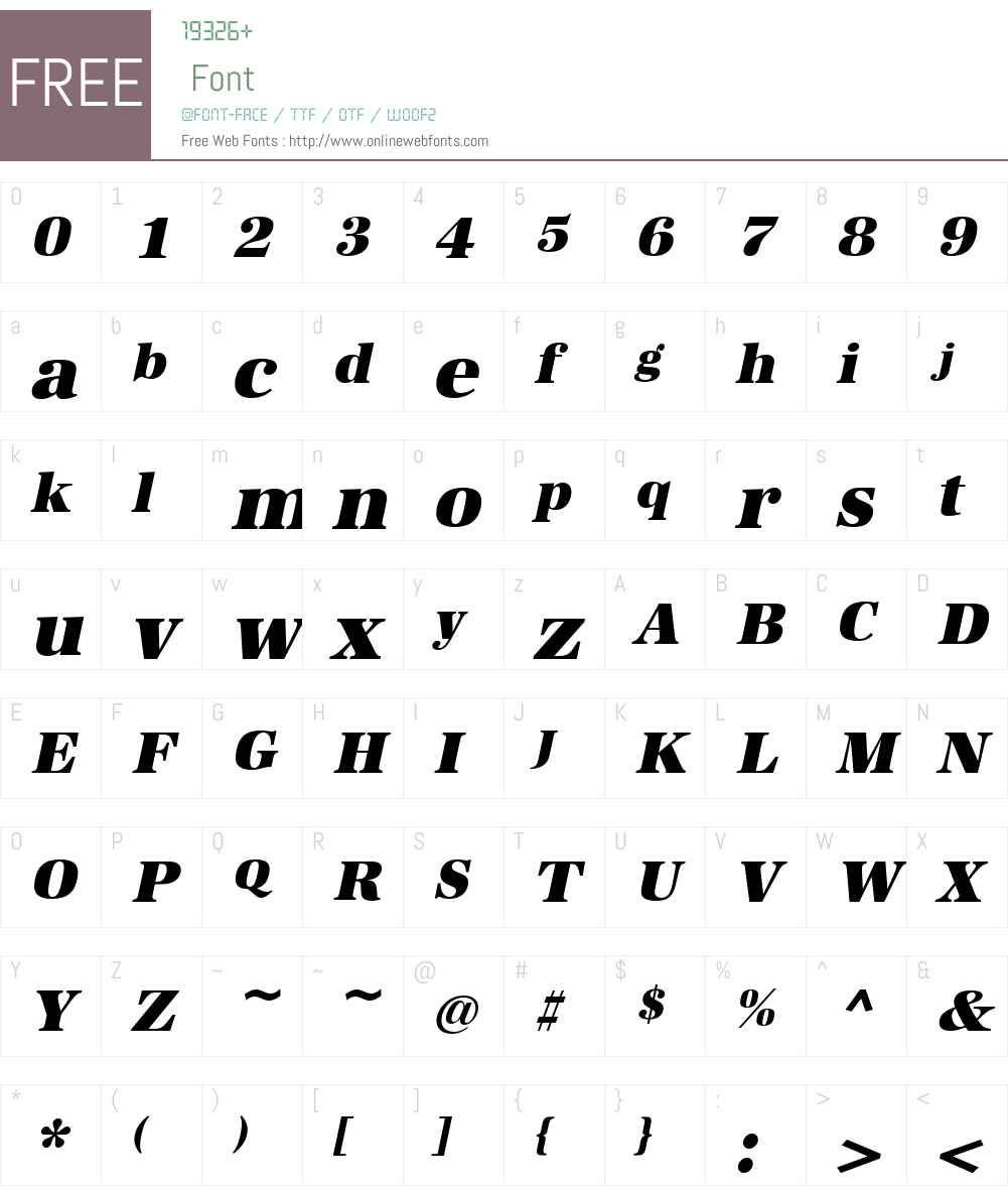 URW Antiqua Font Screenshots