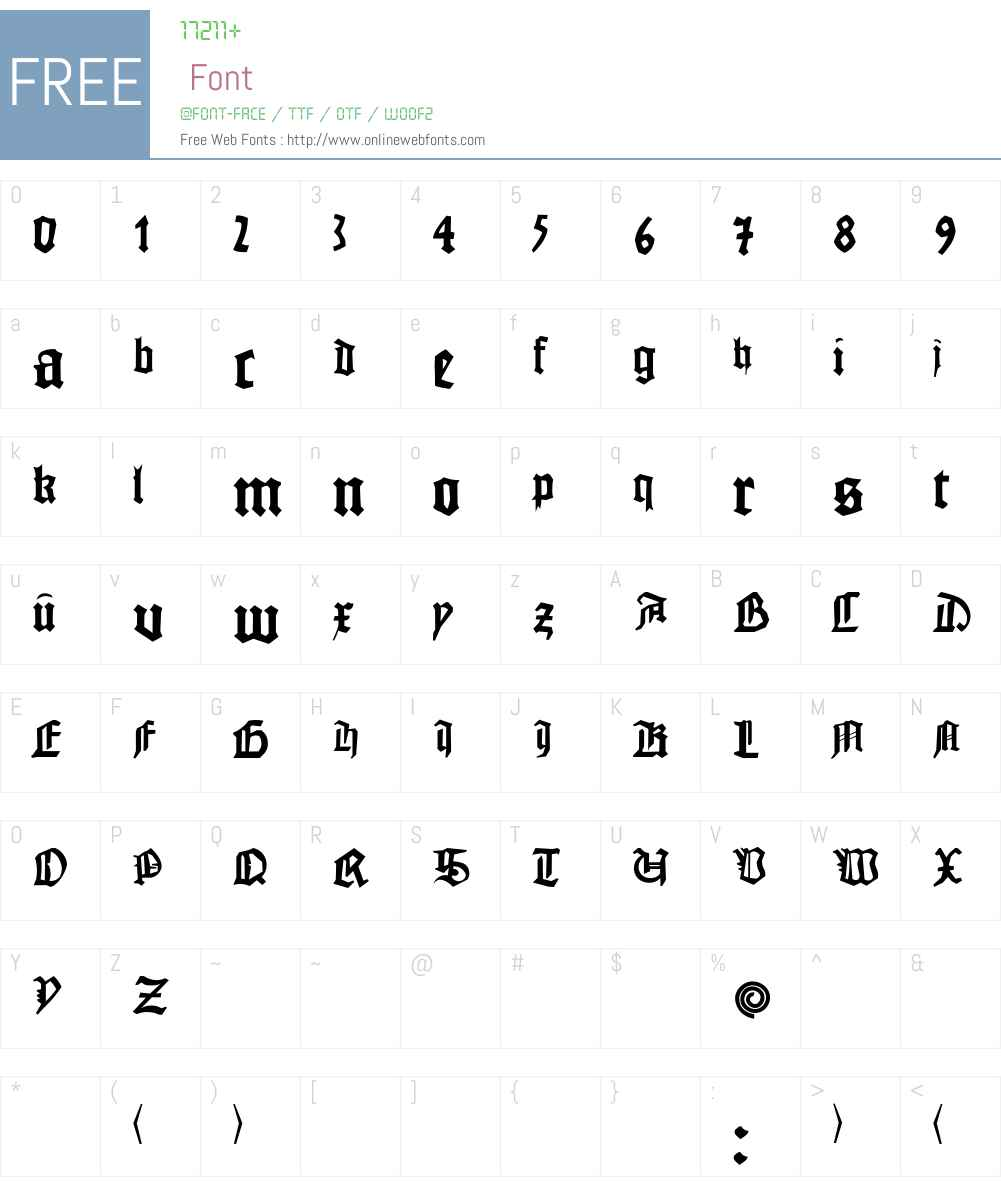 JohannesG Font Screenshots