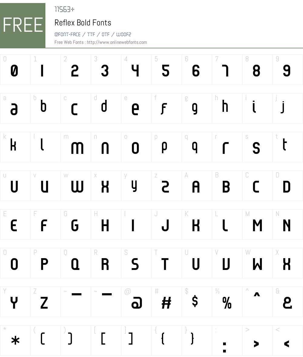 Reflex Font Screenshots