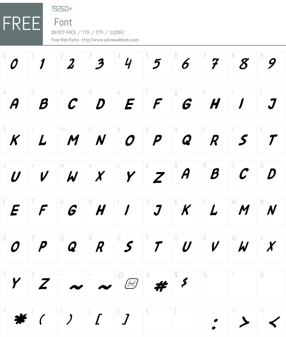 Kreskwka Font Screenshots