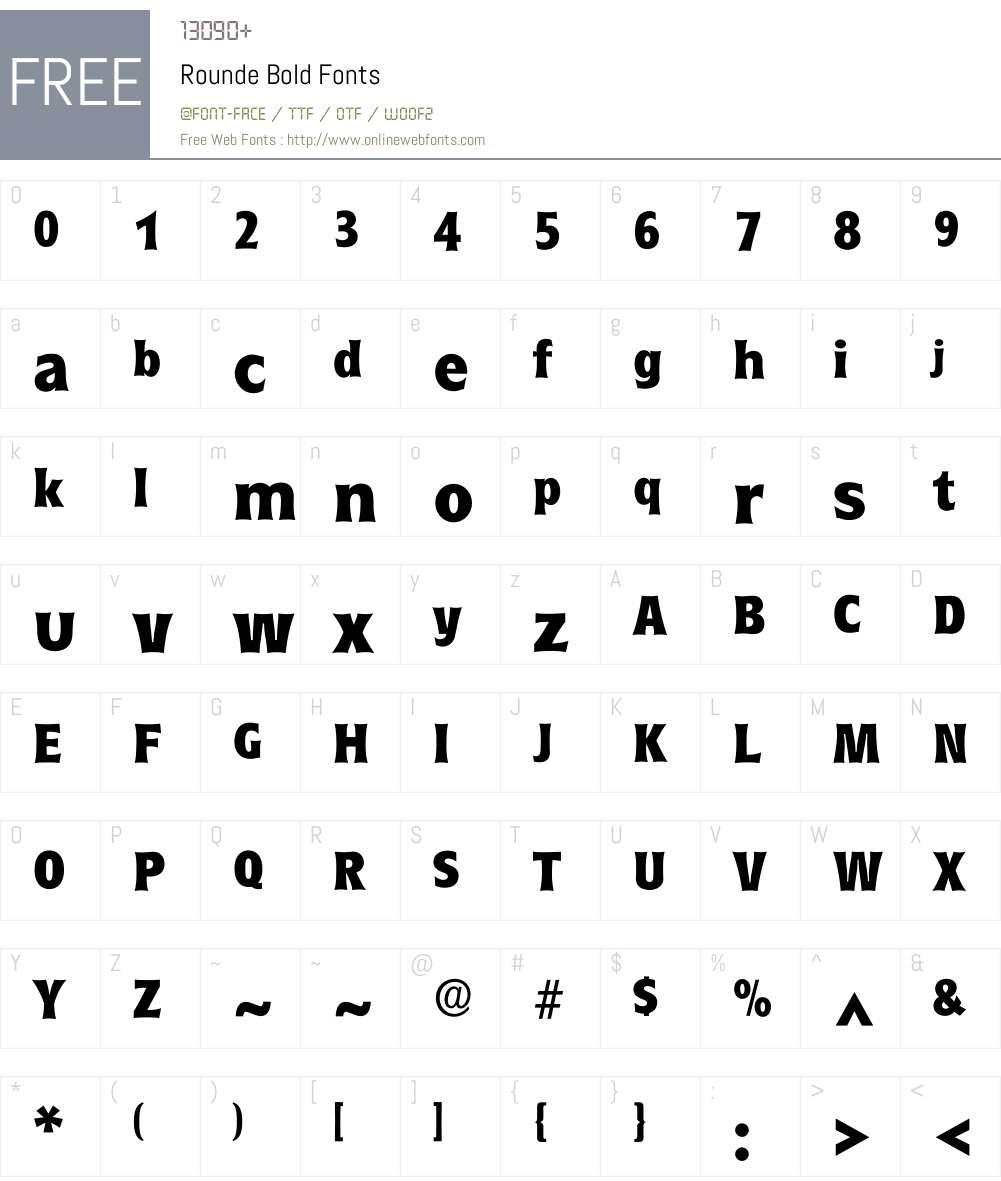 Rounde Font Screenshots