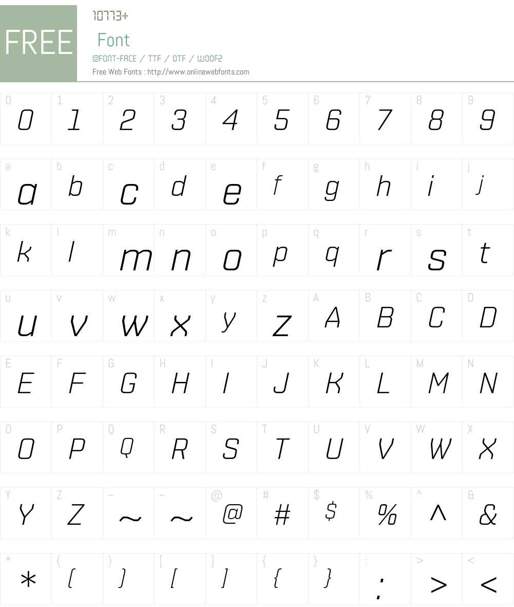 ShentoxW01-LightItalic Font Screenshots