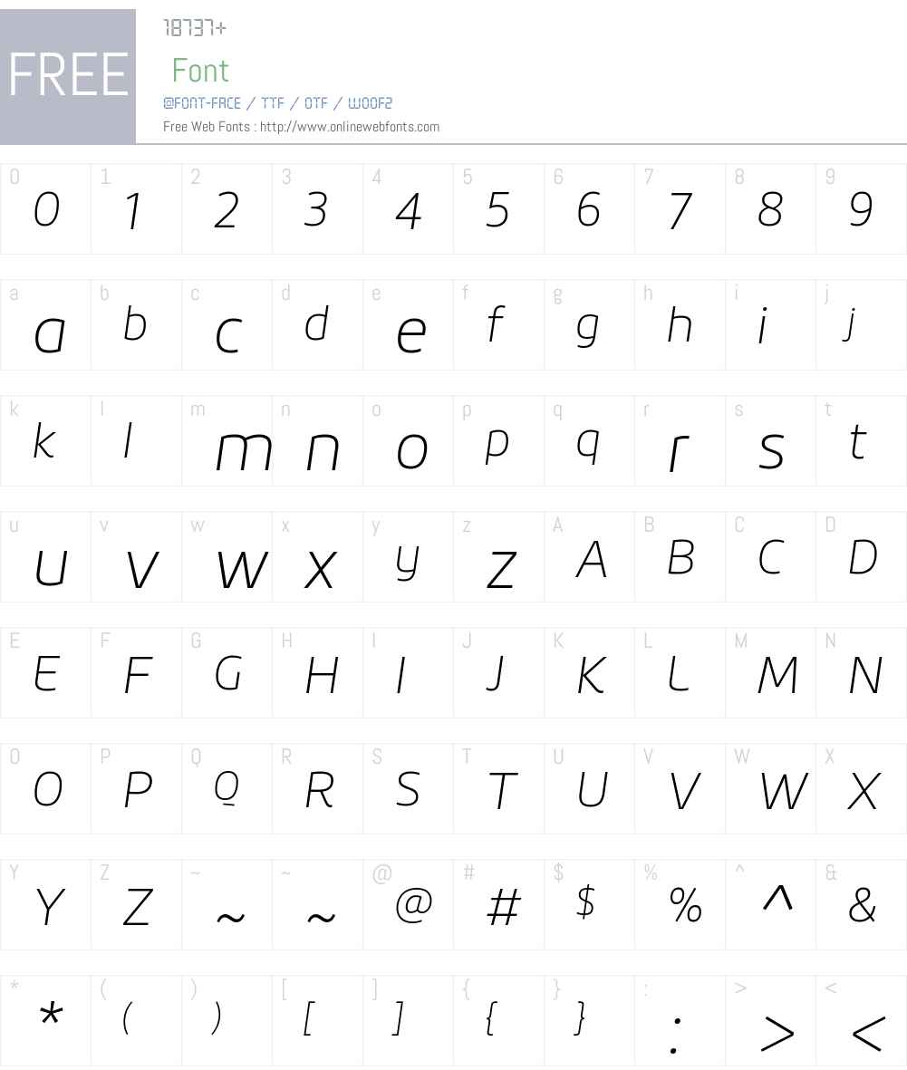 Roihu Thin Font Screenshots