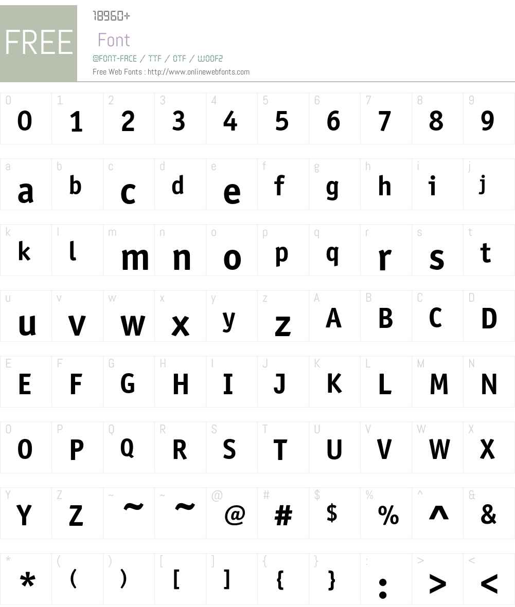 OfficinaSansEF Font Screenshots